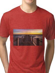 Chelsea Pier at dusk Tri-blend T-Shirt