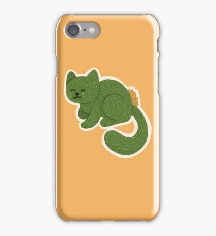 Laying Cactus Cat iPhone Case/Skin