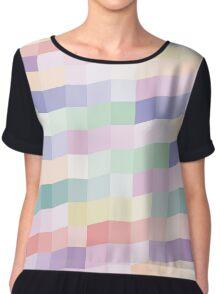 Color square Chiffon Top