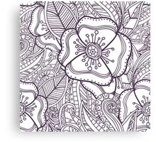 Abstract floral pattern. Doodle. Canvas Print