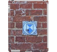 "Red Brick Wall with sign ""Memorial"" (Historic memorial) in Germany iPad Case/Skin"