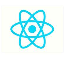 react js logo Art Print