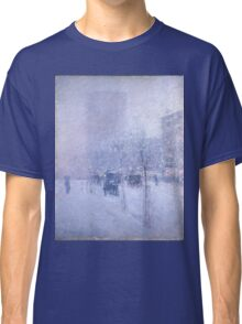 Childe Hassam - Late Afternoon, New York, Winter American Impressionism Landscape Classic T-Shirt