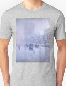 Childe Hassam - Late Afternoon, New York, Winter American Impressionism Landscape Unisex T-Shirt