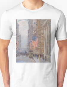 Childe Hassam - Flags on the Waldorf 1916 American Impressionism Landscape Unisex T-Shirt