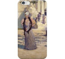 Childe Hassam - Figures in Sunlight , American Impressionism Woman Portrait Fashion  iPhone Case/Skin