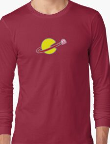 Lego Space Pac-Man (Pink Ghost) Long Sleeve T-Shirt