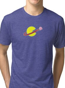 Lego Space Pac-Man (Pink Ghost) Tri-blend T-Shirt
