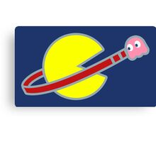 Lego Space Pac-Man (Pink Ghost) Canvas Print
