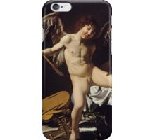 Caravaggio - Cupid as Victor around 1601 Portrait, Italian iPhone Case/Skin