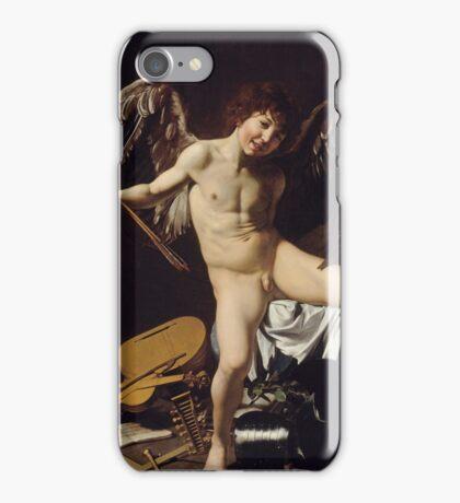 Caravaggio - Cupid as Victor around 1601 Portrait, Italian iPhone Case/Skin