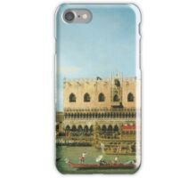Canaletto Bernardo Bellotto - The Bucintoro at the Molo on Ascension Day  1745 iPhone Case/Skin