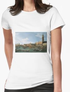Canaletto Bernardo Bellotto - Return of  Il Bucintoro  on Ascension Day 1745-1750 Womens Fitted T-Shirt