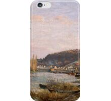 Camille Pissarro - The Seine at Bougival 1870 French Impressionism Landscape iPhone Case/Skin
