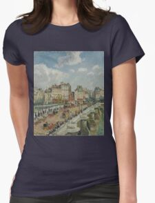 Camille Pissarro - The Pont-Neuf 1902 French Impressionism Landscape Womens Fitted T-Shirt