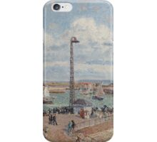 Camille Pissarro - The Pilots  Jetty at Le Havre 1903 French Impressionism Landscape iPhone Case/Skin