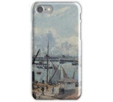 Camille Pissarro - The Outer Harbour of Le Havre, Morning, Sun, Tide 1902  French Impressionism Landscape iPhone Case/Skin