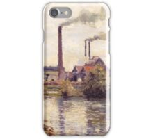 Camille Pissarro - The Factory at Pontoise 1873 Landscape French Impressionism Landscape iPhone Case/Skin