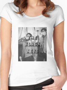 THE BLACK KEYS DRINKING  Women's Fitted Scoop T-Shirt