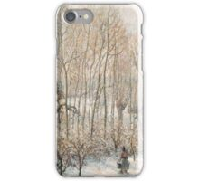 Camille Pissarro - Morning Sunlight on the Snow, Eragny-sur-Epte 1895  French Impressionism Landscape iPhone Case/Skin