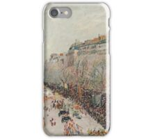 Camille Pissarro - Mardi Gras on the Boulevards 1897  French Impressionism Landscape iPhone Case/Skin