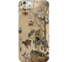 Camille Pissarro - La Place due Theatre Français 1898  French Impressionism Landscape  iPhone Case/Skin