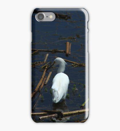 Snowy Egret in a Lake iPhone Case/Skin