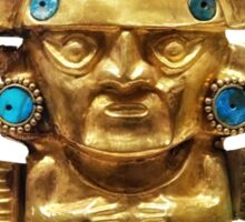 Incas golden statue of Chimu Sticker
