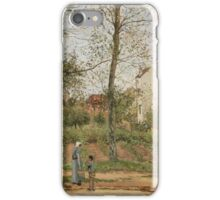 Camille Pissarro - Houses at Bougival Autumn 1870 French Impressionism Landscape iPhone Case/Skin