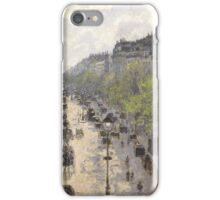 Camille Pissarro - Boulevard Montmartre, Spring 1897 French Impressionism Landscape iPhone Case/Skin