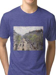 Camille Pissarro - Boulevard Montmartre, Spring 1897 French Impressionism Landscape Tri-blend T-Shirt