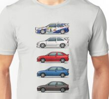 Stack of Ford Escort Mk.5 Coupes (pre facelift) Unisex T-Shirt
