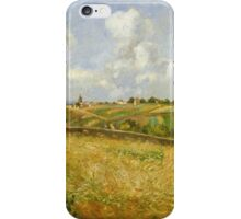 Camille Pissarro - A Rye Field, Hill of Gratte Coqs French Impressionism Landscape iPhone Case/Skin