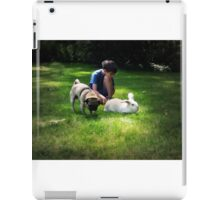 Boy relaxing with his pets iPad Case/Skin