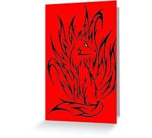 Demon fox Greeting Card