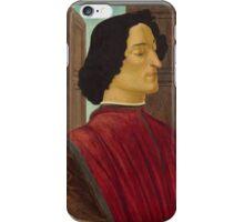 Botticelli  - Giuliano de  Medici  1478 - 1480 Italian  Elegant Man Portrait Fashion  iPhone Case/Skin