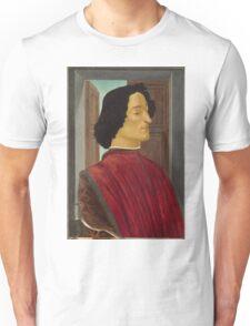 Botticelli  - Giuliano de  Medici  1478 - 1480 Italian  Elegant Man Portrait Fashion  Unisex T-Shirt