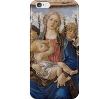 Botticelli  - Annunciation 1495 - 1498 Woman Portrait  iPhone Case/Skin