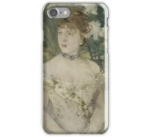 Berthe Morisot - Young Girl in a Ball Gown 1879 Woman Portrait Fashion iPhone Case/Skin