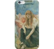 Berthe Morisot - Two Girls 1894 Woman Portrait  iPhone Case/Skin
