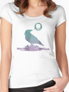 Pissed off crow! Women's Fitted Scoop T-Shirt