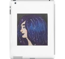 """Luna"" galaxy girl illustration iPad Case/Skin"