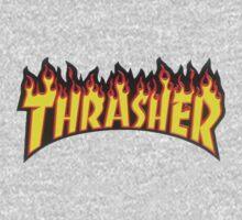 thrasher fire logo One Piece - Long Sleeve