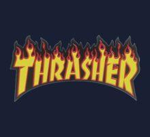 thrasher fire logo One Piece - Short Sleeve
