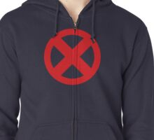 X-Men Red Logo Zipped Hoodie