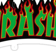 thrasher green logo Sticker