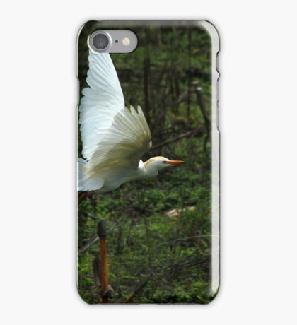 Cattle Egret Flying iPhone Case/Skin