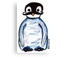 Penguin Mustache Canvas Print