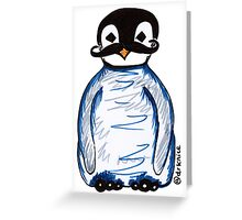 Penguin Mustache Greeting Card