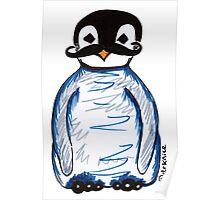 Penguin Mustache Poster